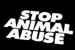 Pare el abuso animal imagen de archivo