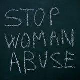 Pare el abuso de la mujer Fotografía de archivo