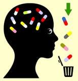Pare el abuso del medicamento de venta con receta stock de ilustración