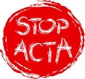 PARE EL ACTA Fotografía de archivo