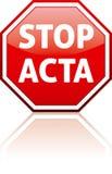 PARE EL ACTA Imágenes de archivo libres de regalías