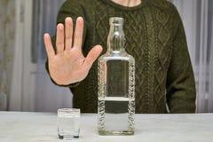 Pare el alcohol Fotos de archivo libres de regalías