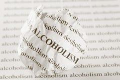 Pare el alcoholismo Fotos de archivo libres de regalías