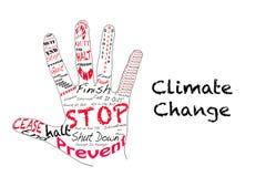 Pare el cambio de clima ilustración del vector