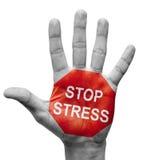 Pare el concepto de la tensión. Imágenes de archivo libres de regalías