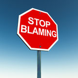 Pare el culpar stock de ilustración