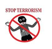 Pare el ejemplo de la muestra del terrorismo Fotografía de archivo libre de regalías