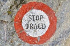 Pare el fraude Imagenes de archivo