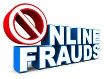 Pare el fraude en línea stock de ilustración