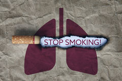 Pare el fumar de concepto Foto de archivo libre de regalías
