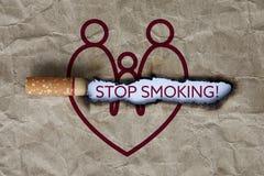 Pare el fumar de concepto Fotografía de archivo libre de regalías