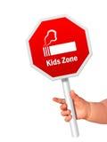 Pare el fumar de la muestra. Imagen de archivo libre de regalías