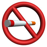 Pare el fumar de la muestra 3D Fotografía de archivo