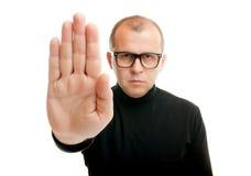 Pare el gesto de mano foto de archivo libre de regalías