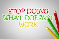 Pare el hacer de qué no trabaja concepto stock de ilustración