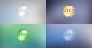Pare el icono 3d ilustración del vector