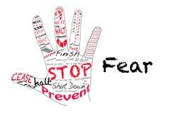 Pare el miedo Imágenes de archivo libres de regalías