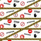 Pare el modelo inconsútil bloqueado del peligro de la atención libre illustration