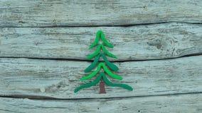 Pare el movimiento con el árbol de navidad almacen de video