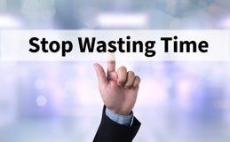 Pare el perder de tiempo Imagenes de archivo