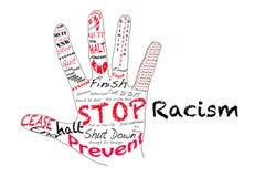 Pare el racismo Fotos de archivo libres de regalías