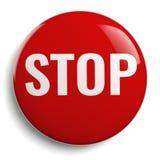Pare el símbolo gráfico rojo de la muestra aislado Fotos de archivo libres de regalías