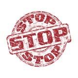 Pare el sello de goma del grunge Imagen de archivo libre de regalías