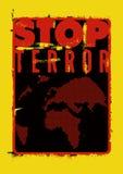 Pare el terror Cartel tipográfico de la protesta del grunge Ilustración del vector Fotografía de archivo libre de regalías