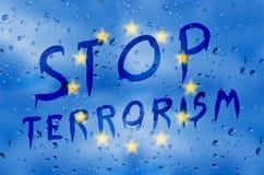 Pare el terrorismo Imagen de archivo libre de regalías