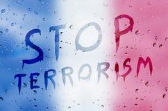 Pare el terrorismo Fotografía de archivo