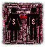Pare el tráfico del ser humano Foto de archivo libre de regalías