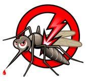 Pare a etiqueta do mosquito ilustração do vetor