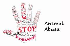 Pare a ilustração animal do abuso Fotos de Stock