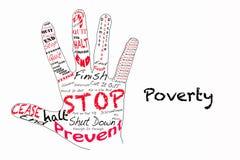 Pare a ilustração da pobreza Foto de Stock
