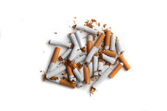 Pare a imagem anti-fumaça rendida Smoking Fotografia de Stock Royalty Free