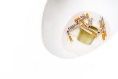 Pare a imagem anti-fumaça rendida Smoking imagens de stock royalty free