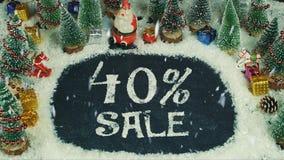 Pare la animación del movimiento de la venta del 40% Fotografía de archivo