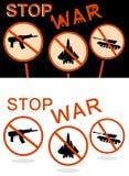 Pare la bandera de la guerra Stock de ilustración