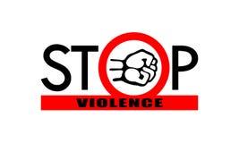 Pare la bandera de la violencia ilustración del vector