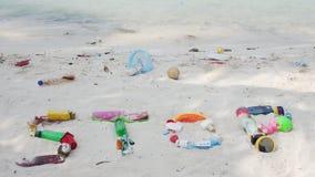 Pare la basura del plástico almacen de video