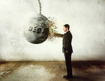 ¡Pare la deuda! Fotos de archivo