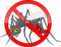 Pare la historieta del mosquito Imagen de archivo libre de regalías