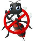 Pare la historieta del mosquito Foto de archivo