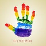Pare la homofobia fotografía de archivo libre de regalías