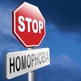 Pare la homofobia Imagen de archivo libre de regalías
