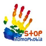 Pare la homofobia Cartel del aguazo Vector stock de ilustración