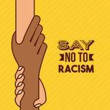 Pare la imagen del racismo stock de ilustración