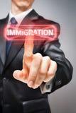 Pare la inmigración fotografía de archivo