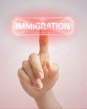 Pare la inmigración fotografía de archivo libre de regalías