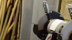 Pare la máquina de pulir de las muelas abrasivas después de cortar la corriente Eléctrico afilado metrajes